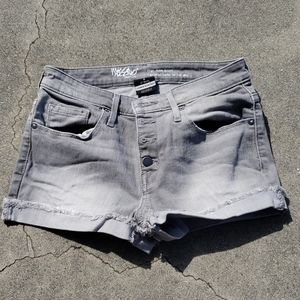 MOSSIMO Gray Acid Wash button up shorts